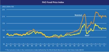 FAO Food Price Index July 2013 jpeg